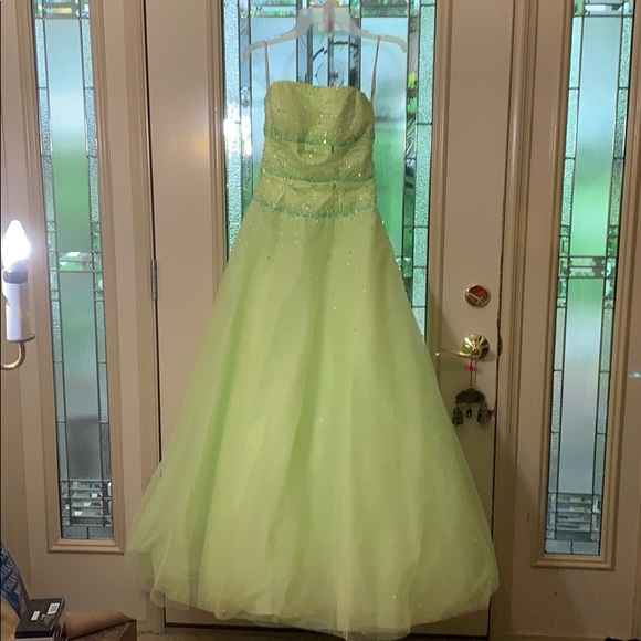Tiffany Designs Dresses & Skirts - Tiffany Designs Ball Gown chartreuse